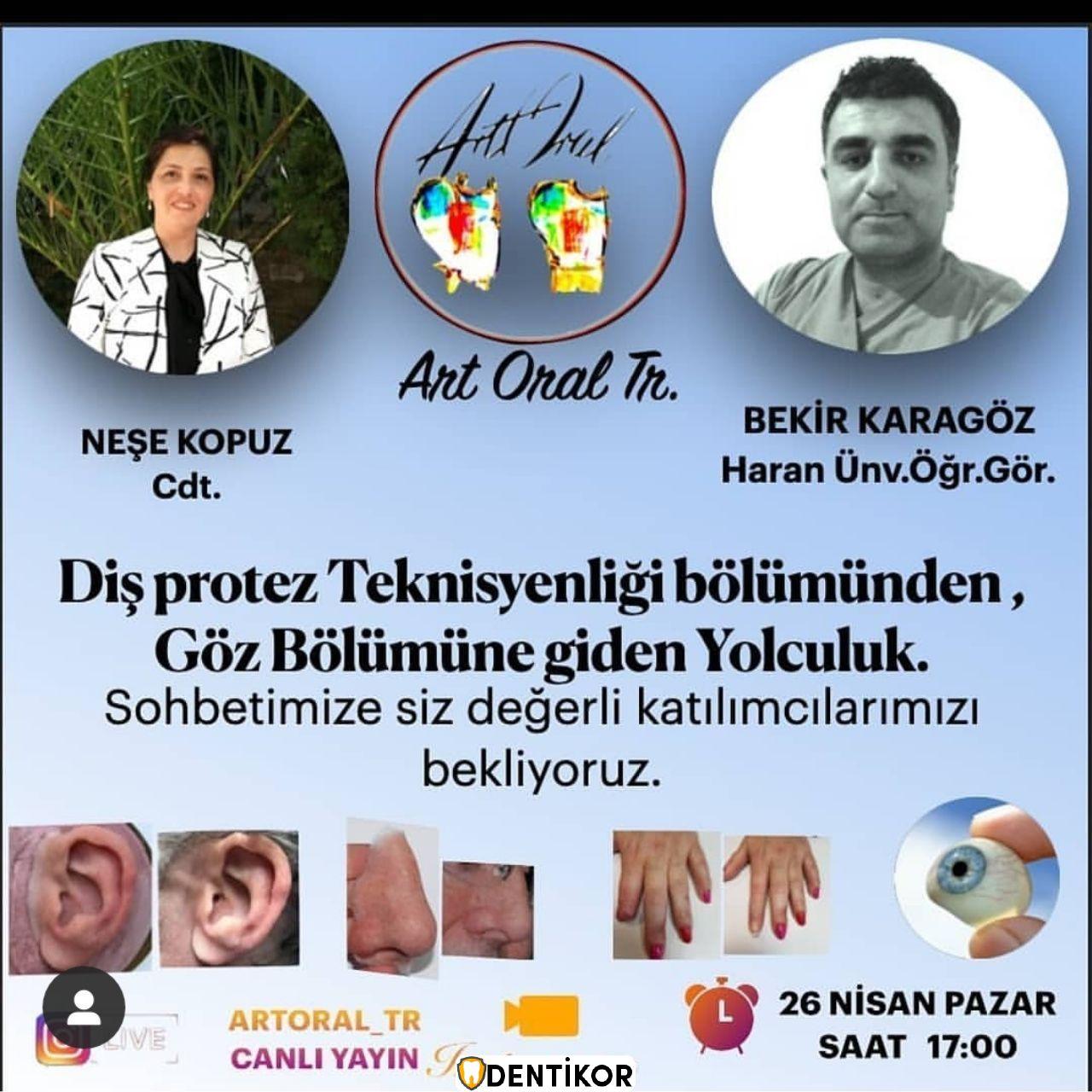 Diş Protez Teknisyenliğinden Göz Bölümüne Giden Yolculuk İnstagram Live - Etkinlikler
