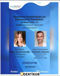 Beslenme İmmünolojisi ve Koronovirüs Pandemisi - Edad İnstagram Live - Etkinlikler