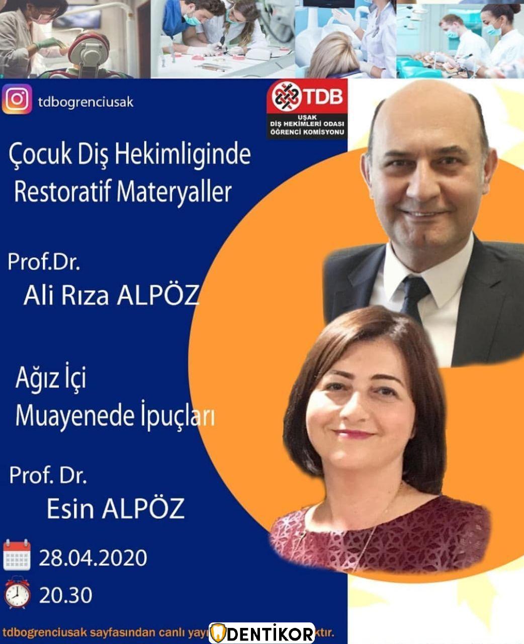 Çocuk Diş Hekimliğinde Restoratif Materyalleri -Prof.Dr.Ali Rıza Alpöz İnstagram Live - Eğitim ve Seminer